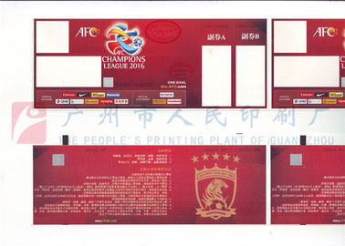 Custom Size Event Ticket Printing Services , Barcode Admission Ticket Printing