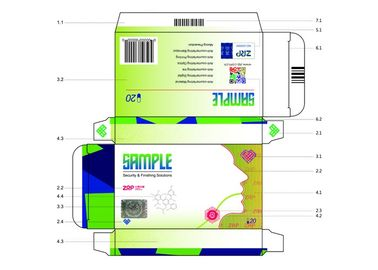 Implantable Paper Anti Counterfeit Printing Package Box Anti - Fade 2D Gold Blocking